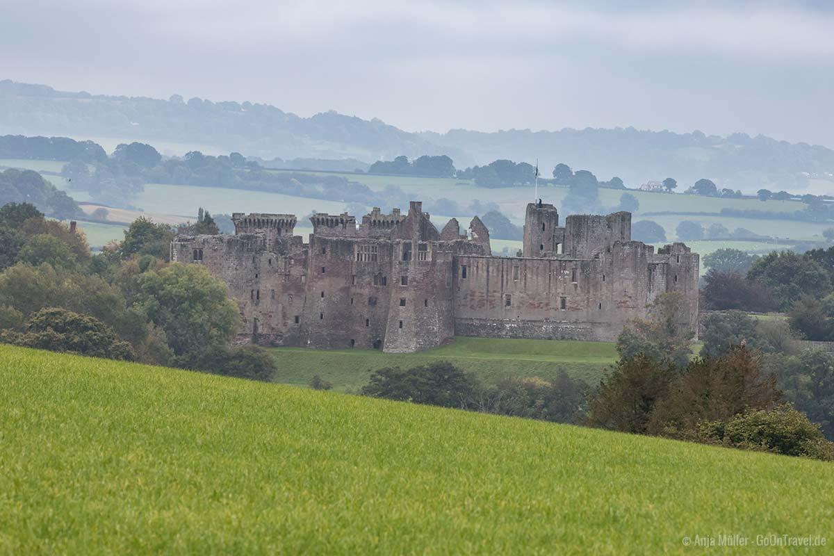 Blick auf das Raglan Castle