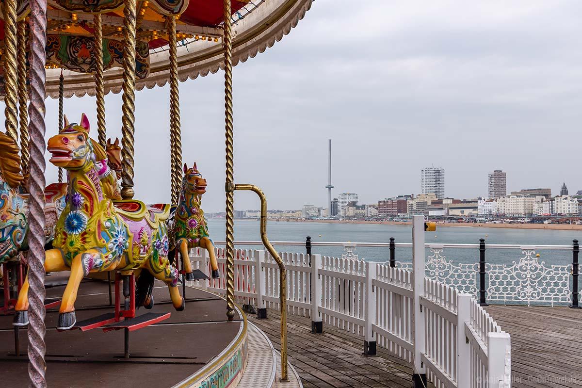 Blick vom Brighton Palace Pier