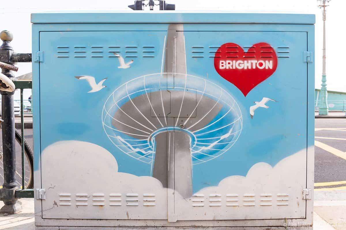 Sogar der i365 wird zur Street Art