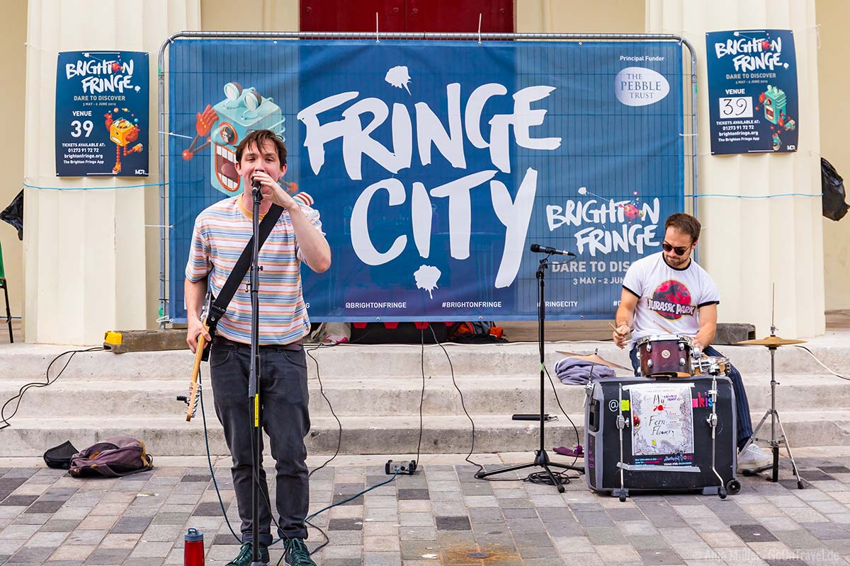 Beim Brighton Fringe gibt es viel Live Musik.