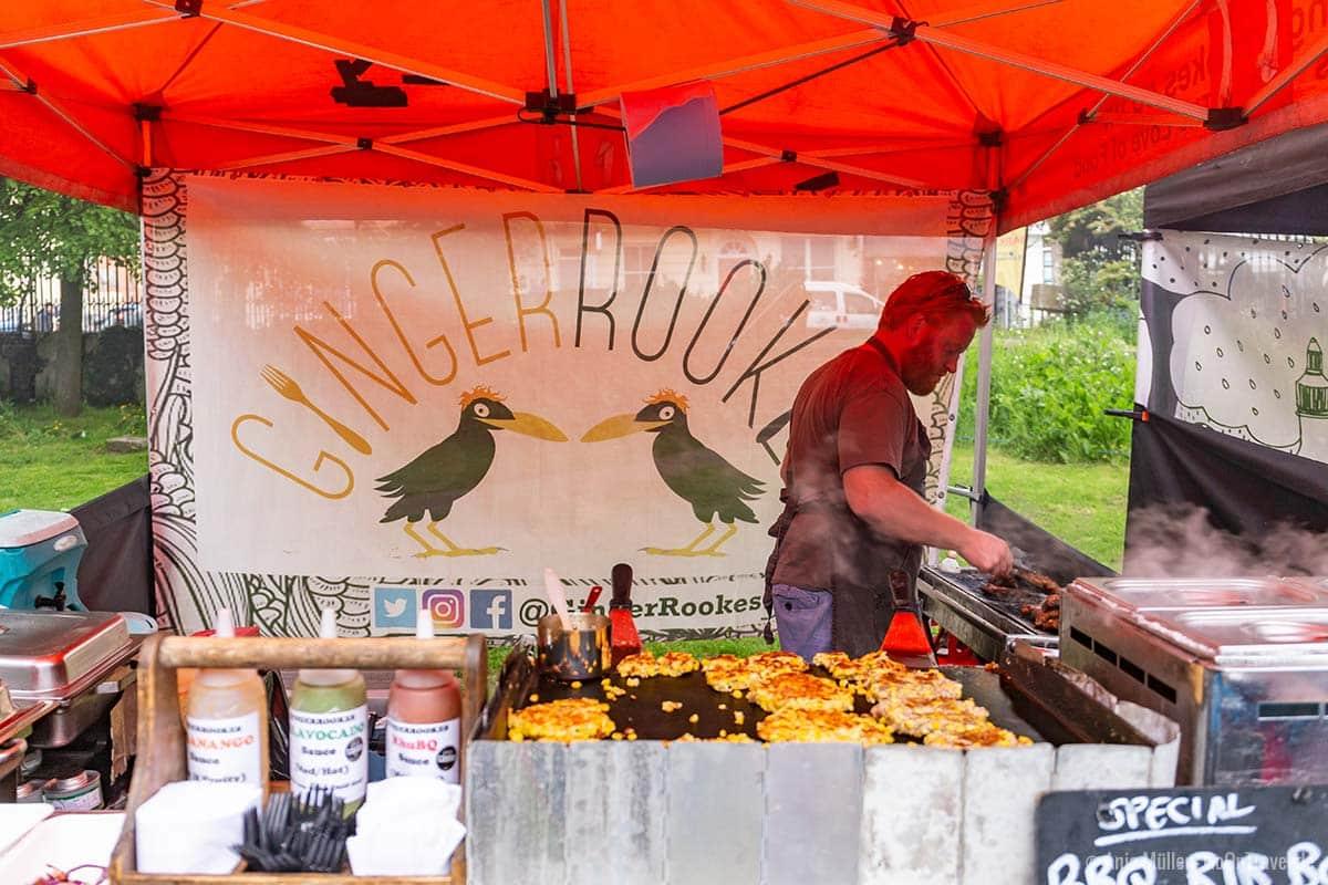 Erster Halt bei der Brighton Food Tour: Der Stand von Ginger Rookes im Brighthelm Gardens