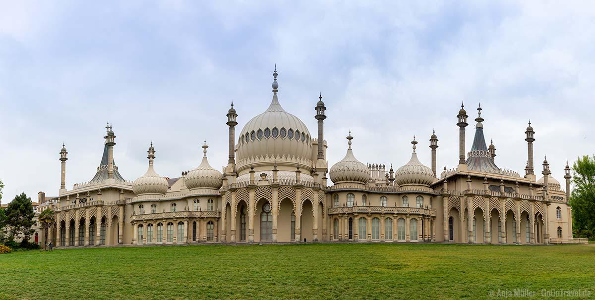 Der Brighton Royal Pavillon mit seinen indischen Einflüssen