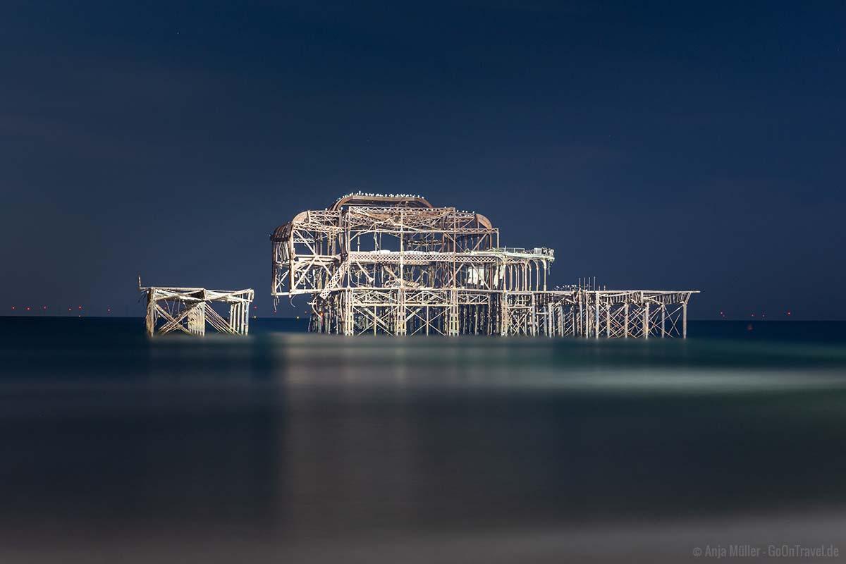 Der West Pier am Abend