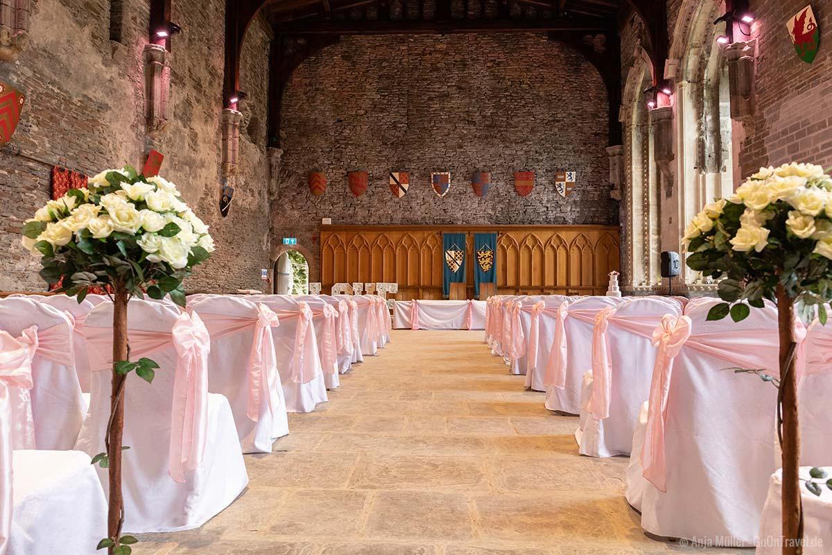 Hochzeit im Caerphilly Castle