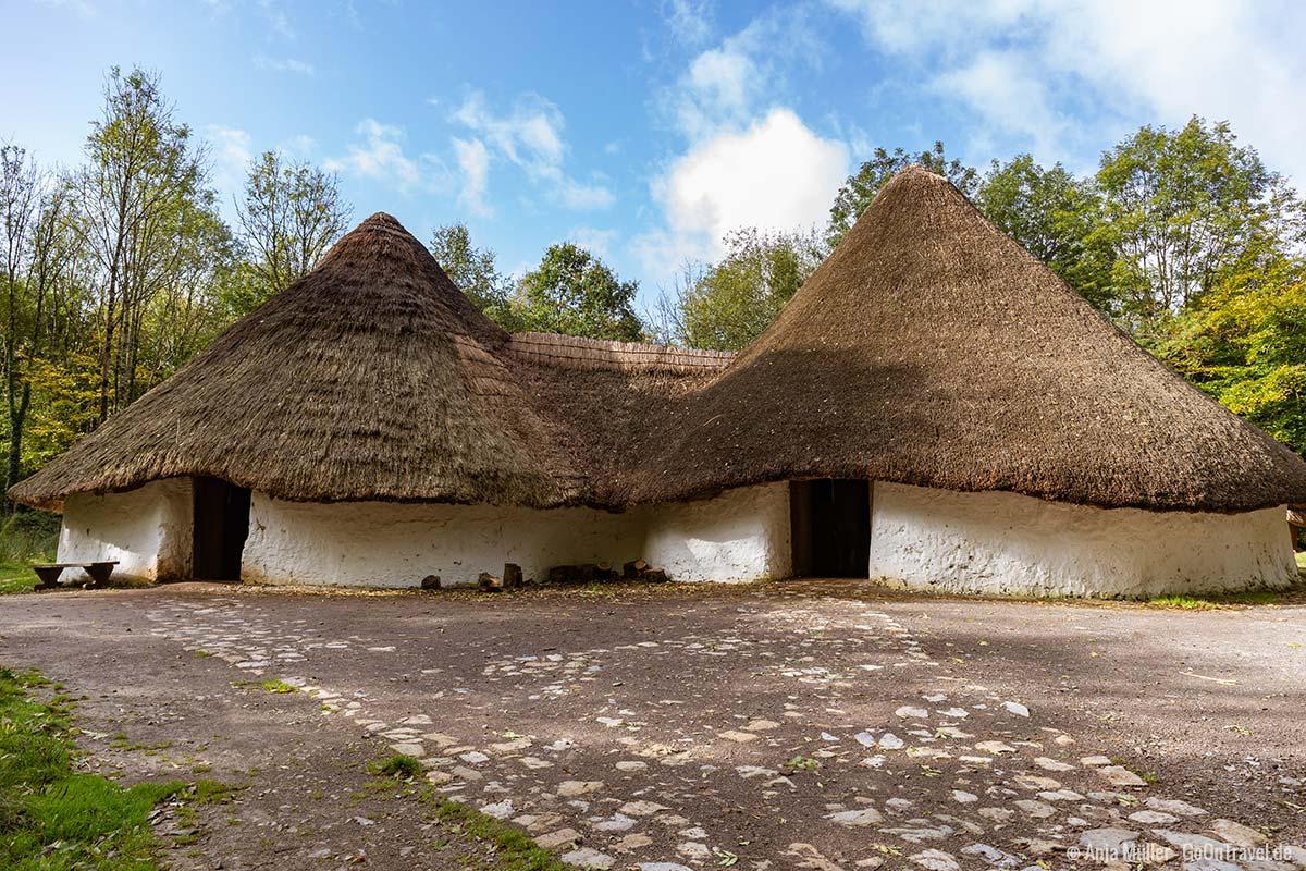 Keltisches Dorf im Museum of Welsh Life