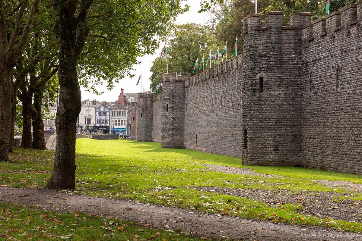 Burgmauer von Cardiff