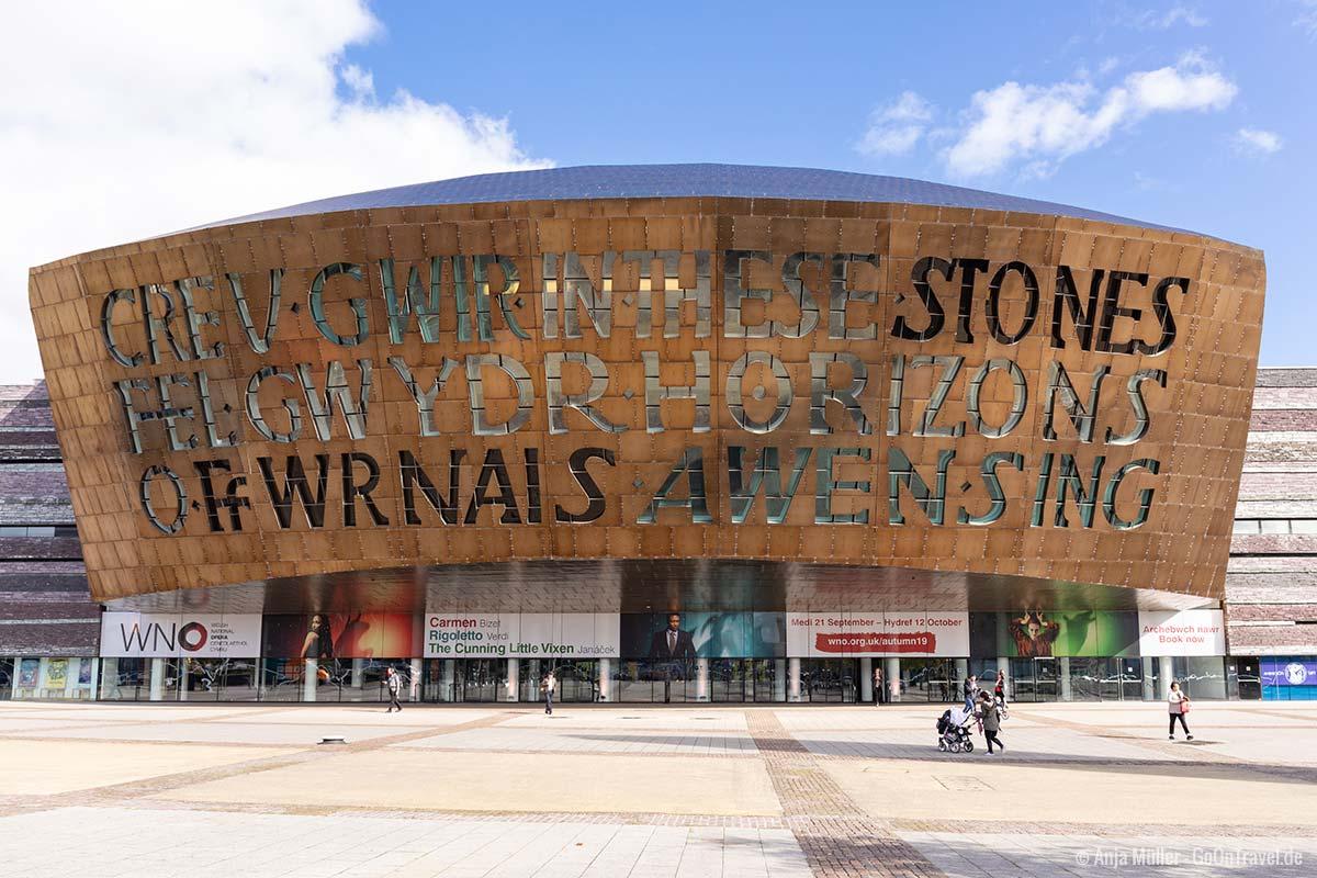 Wales Millennium Centre an der Cardiff Bay