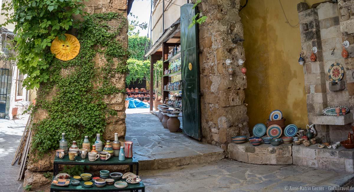 liebevoll dekoriertes Geschäft in der Altstadt