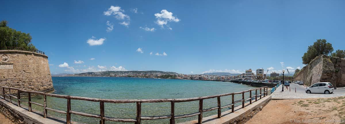 Blick von der Sabbionara-Bastion auf Chania