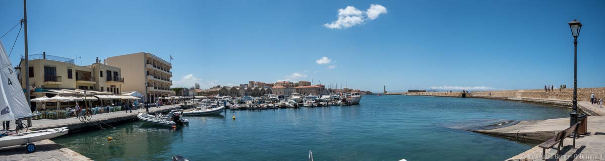 Panoramablick in den Hafen