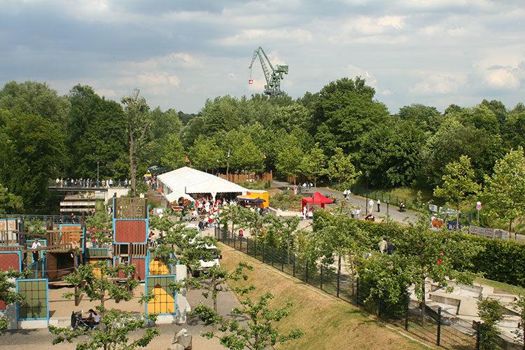 Blick auf den Familiengarten in Eberswalde