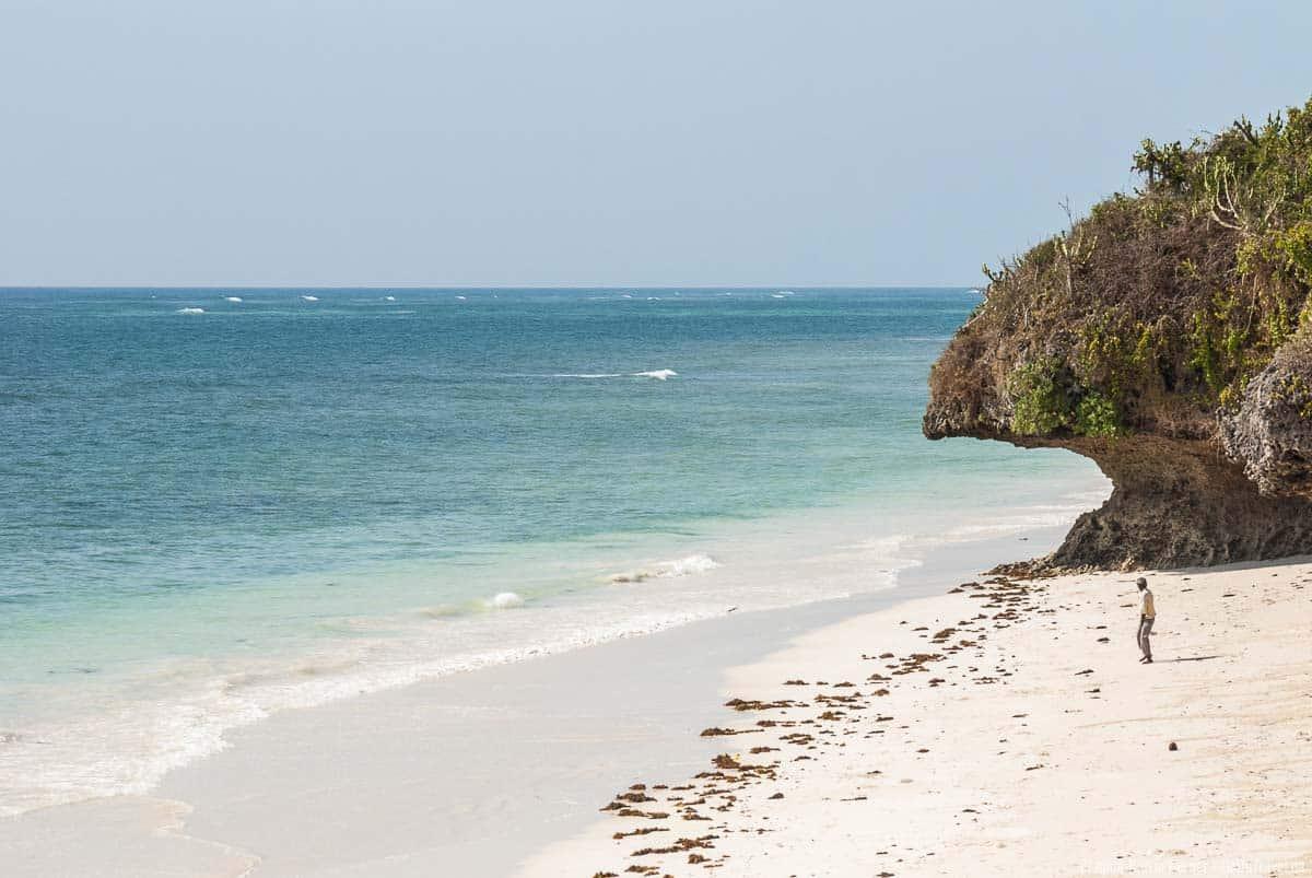 Diani Beach an der Südküste von Kenia