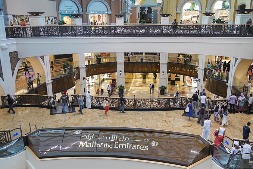 Blick in die Mall of the Emirates