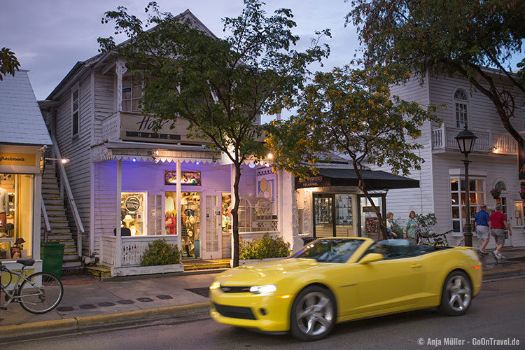 Die Duval Street in Key West