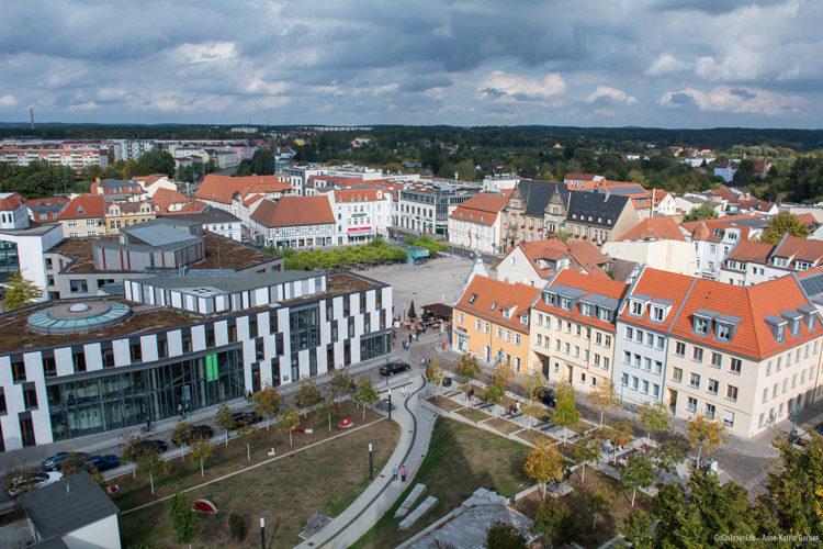Blick auf den Marktplatz Eberswalde