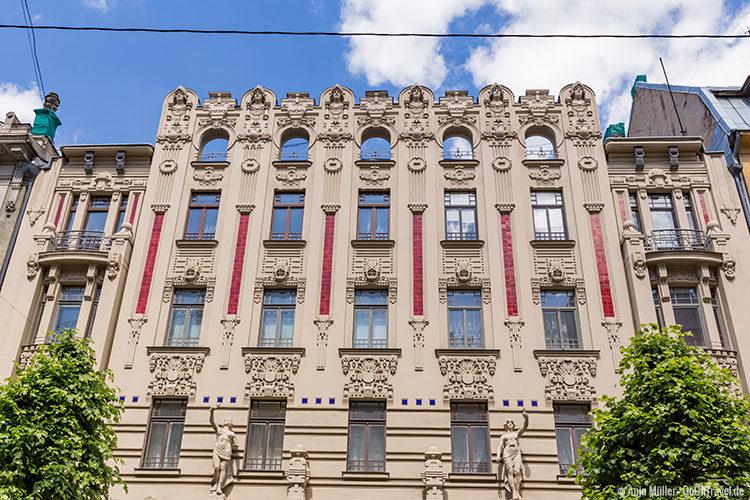 Häuserfassade im Jugendstil