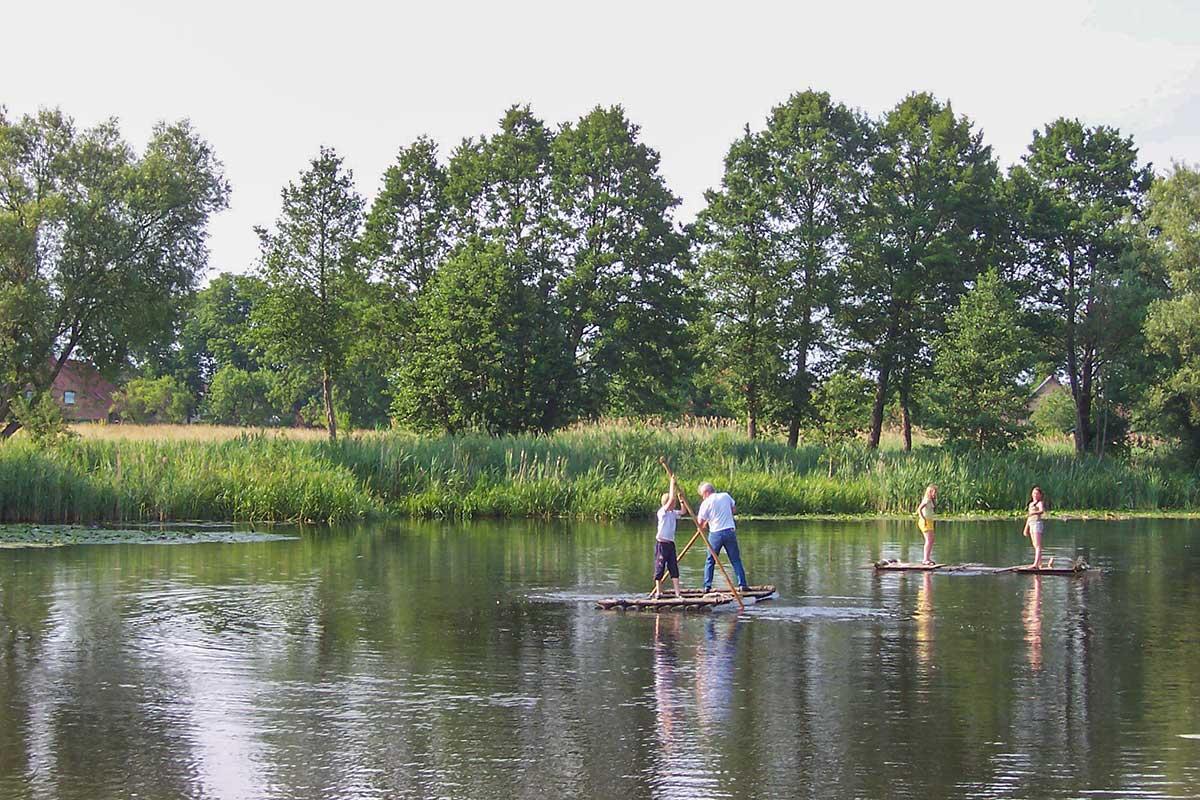 Selbst Flössern auf dem Finowkanal