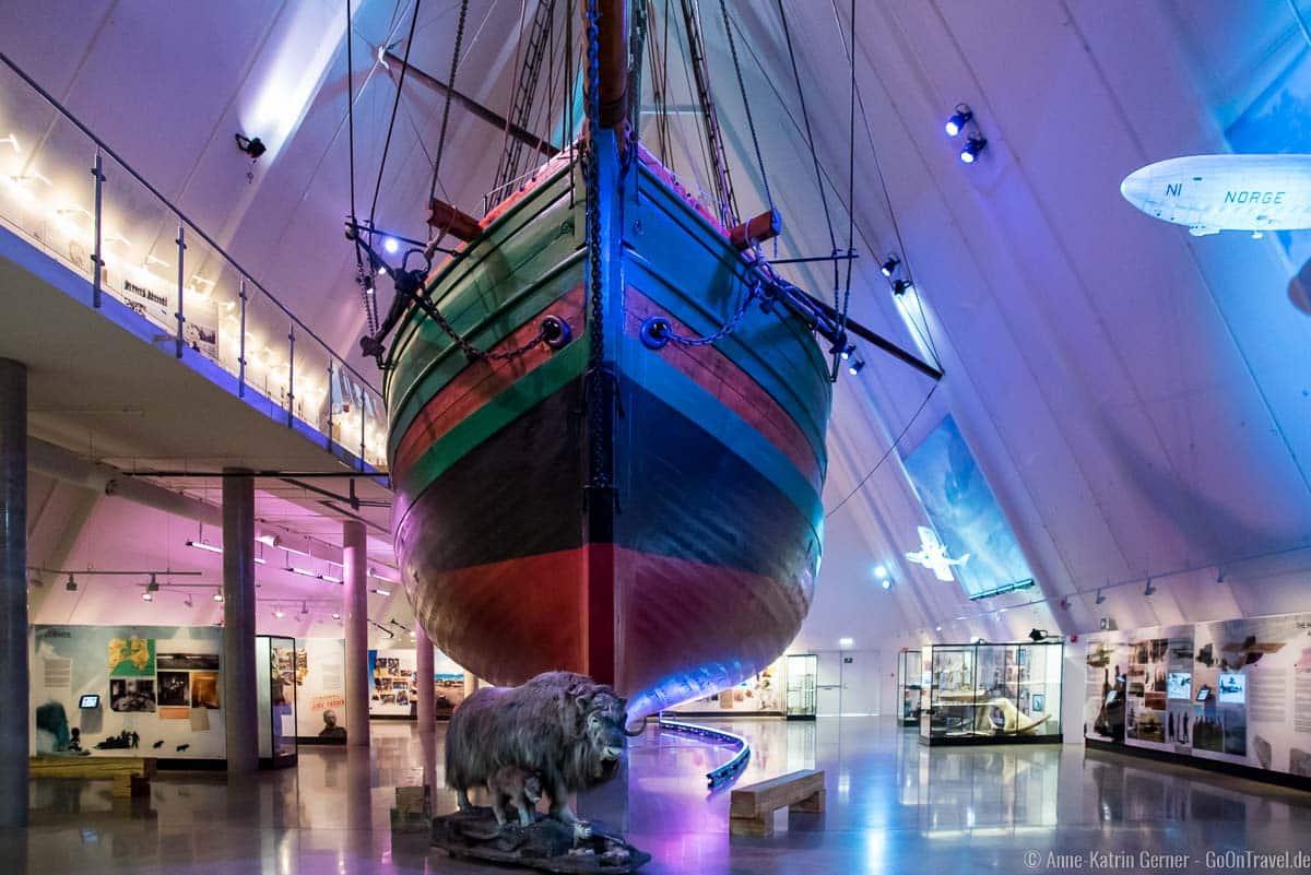 Expeditionsschiff Gøja im Fram-Museum