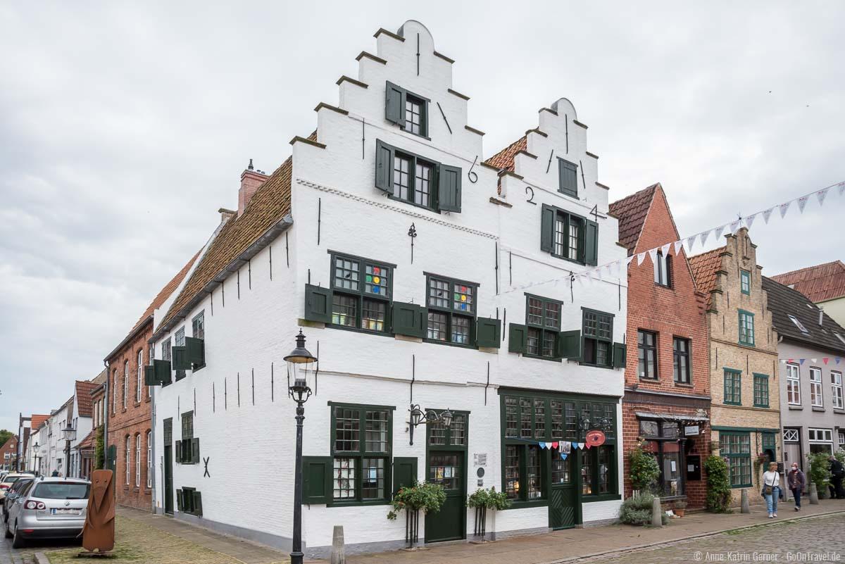 historische Gebäude in der Prinzenstraße in Friedrichstadt