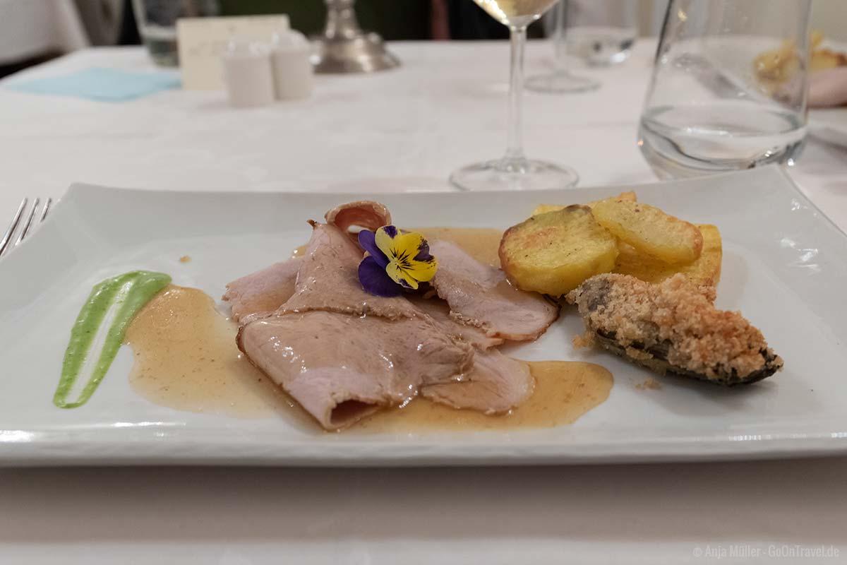 Ferkel mit Akazienhonig und Armagnac-Sauce