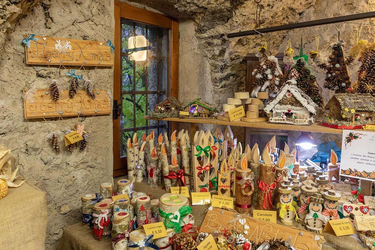 Viel Kunsthandwerk gibt es beim Weihnachtsmarkt in Canale