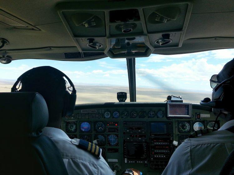 ein Blick ins Cockpit