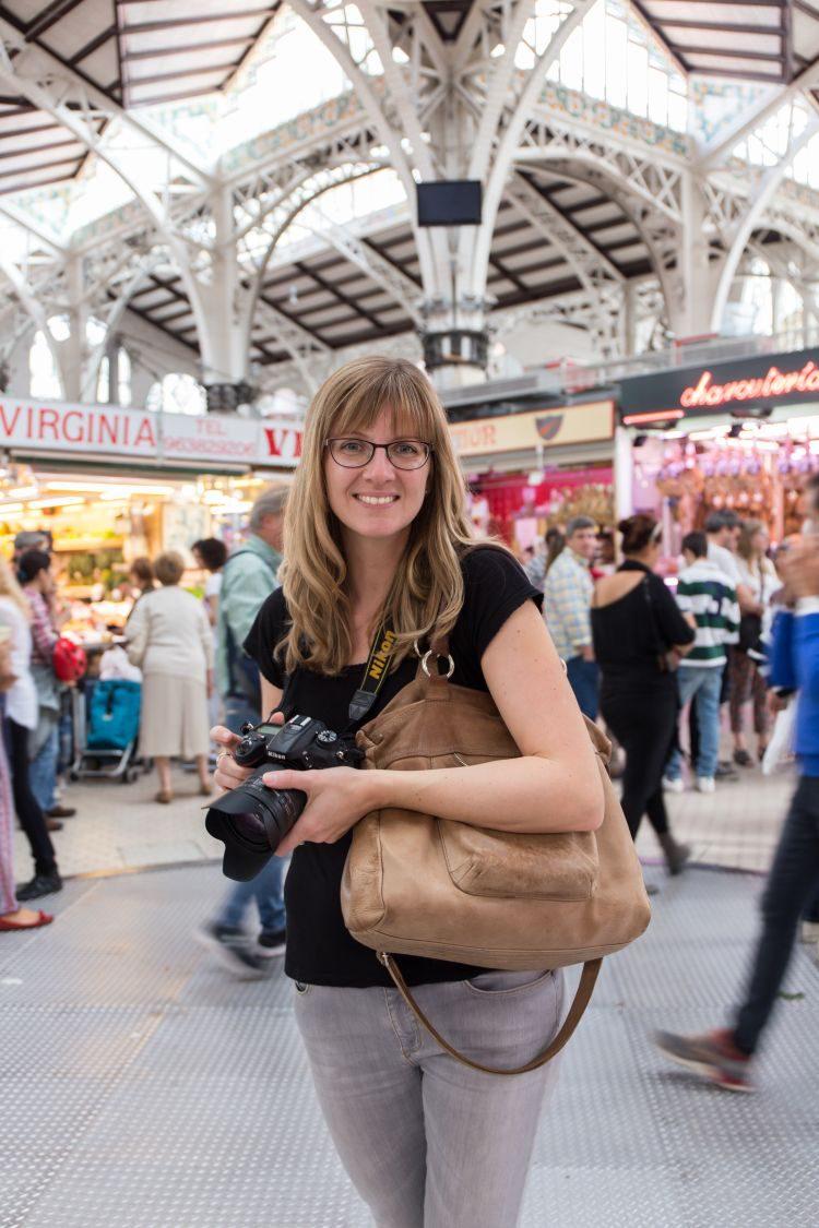 Anne auf Fotosuche im Mercado Central