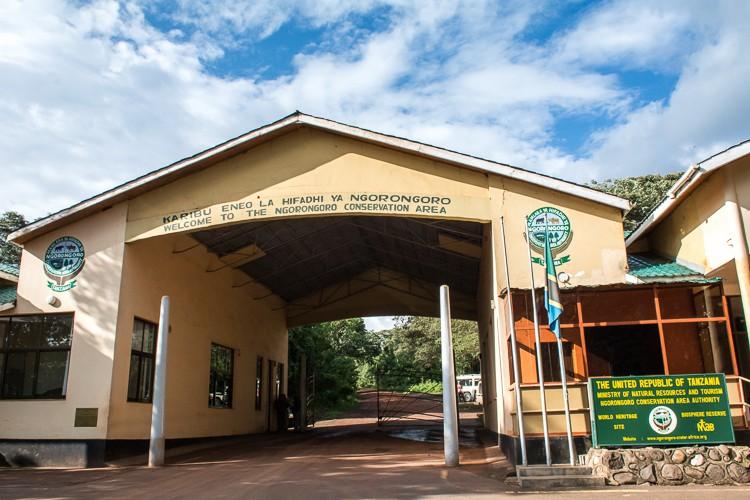 Eingang zum Ngorongoro Schutzgebiet