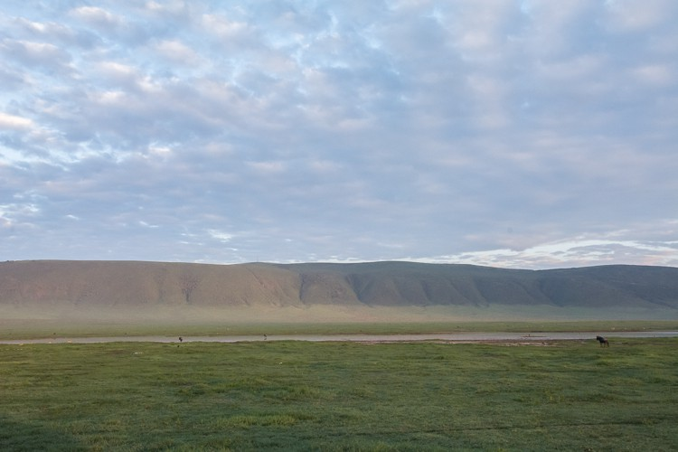 Sonnenaufgang im Ngorongoro Krater