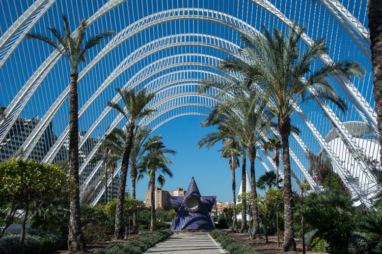 L´Umbracle das symbolische Tor zu diesem futuristischen Komplex