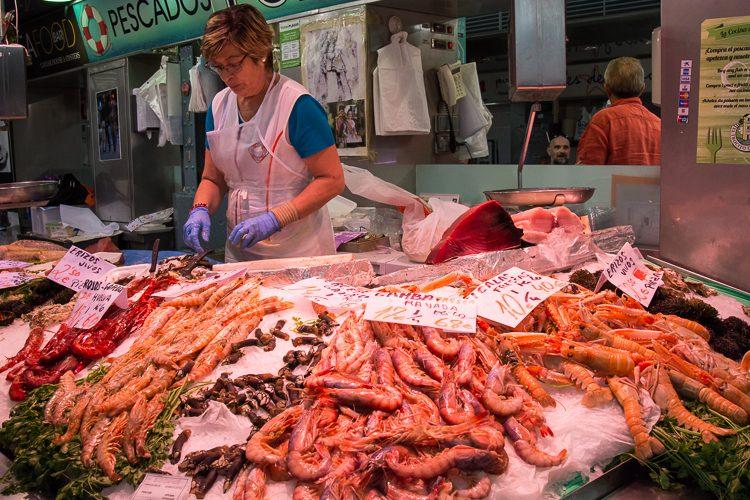 Meeresfrüchte dürfen auf dem Markt nicht fehlen!