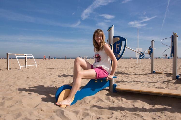 Spass am Strand von Playa de la Patacona