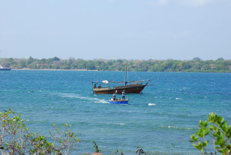 Blick von Wasini aufs Festland
