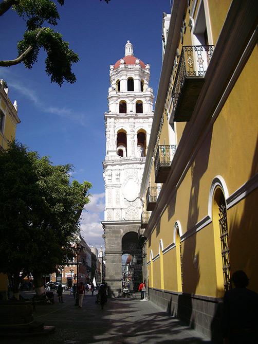 In den Gassen von Puebla