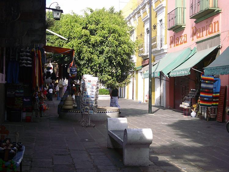 der Markt El Parian in Puebla