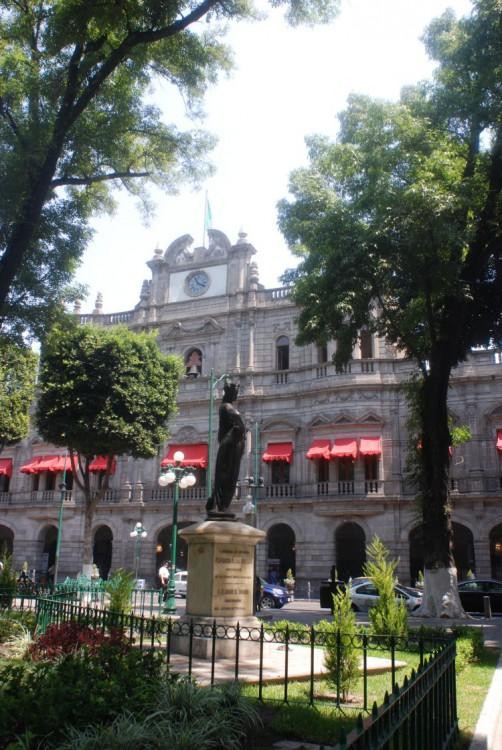 Am Zócalo von Puebla