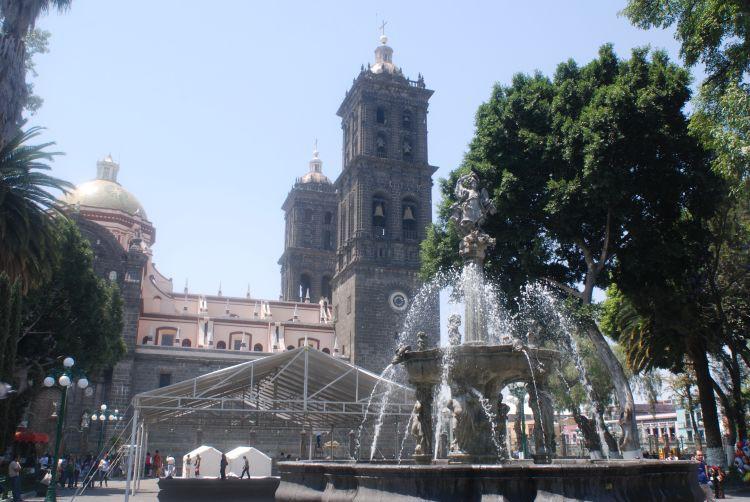 die Kathedrale von Puebla