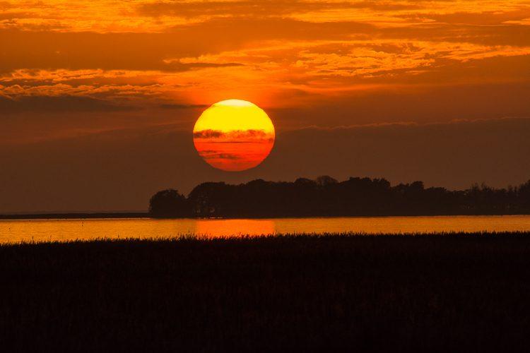 Sonnenuntergang über dem Darß