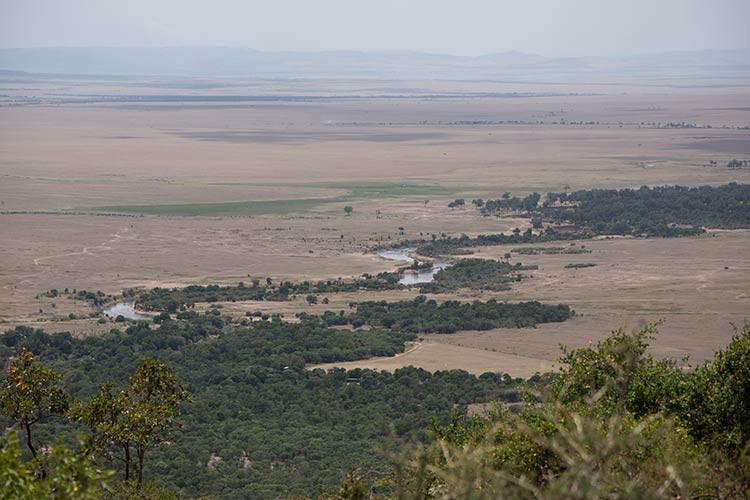 Blick auf den Mara River vom Kilima Camp aus
