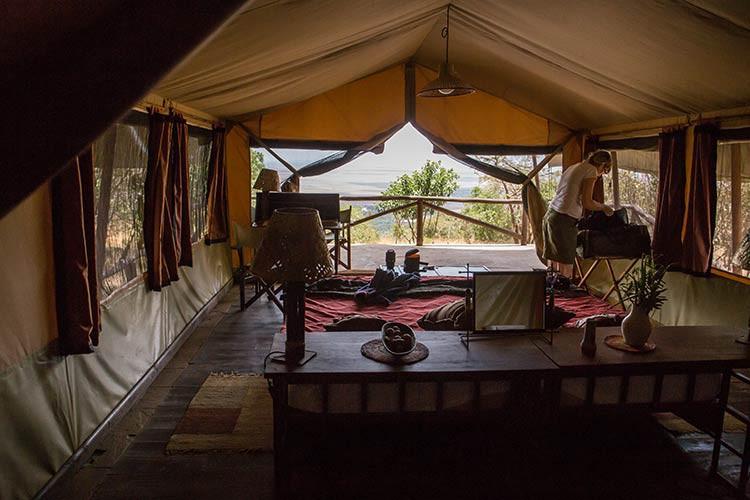 Unser Zelt im Kilima Camp