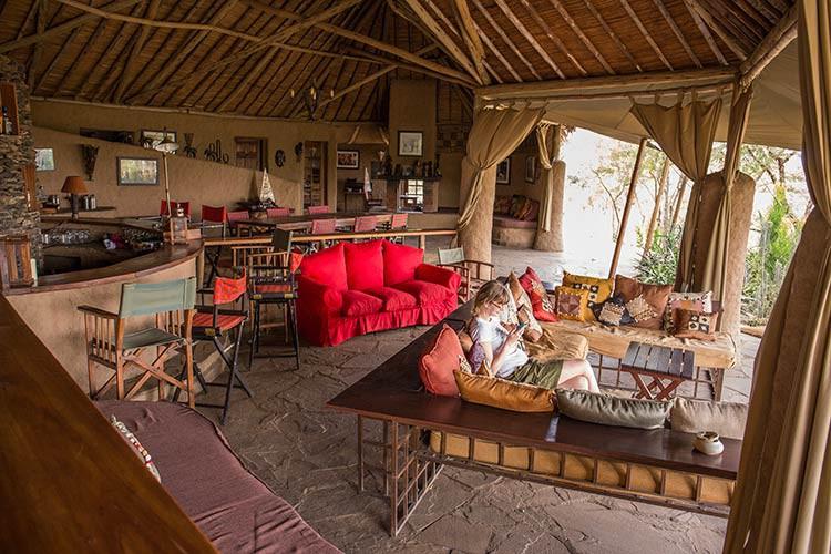 Das Hauptzelt des Kilima Camps