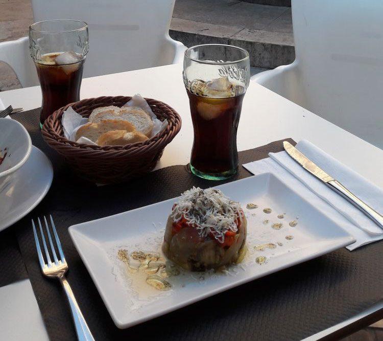 vegetarische Vorspeise im Racó del Mar