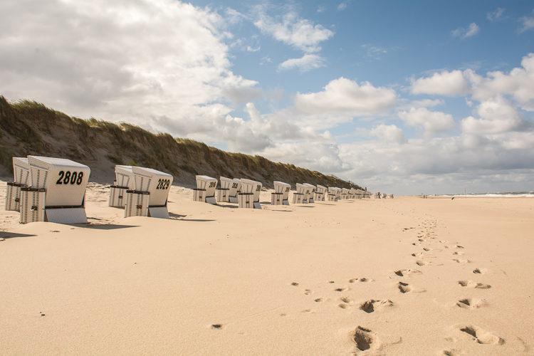 Strandkörbe am Sylter Weststrand