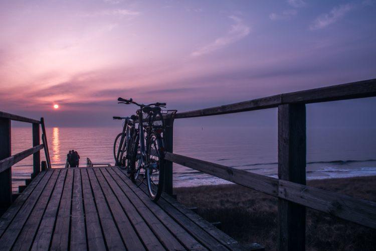 Sonnenuntergang in Westerland