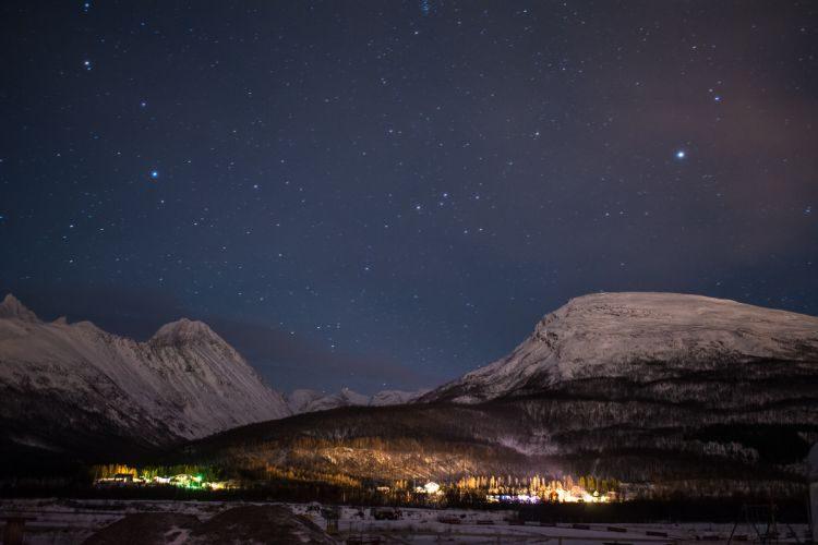 norwegischer Sternenhimmel ohne Polarlicht