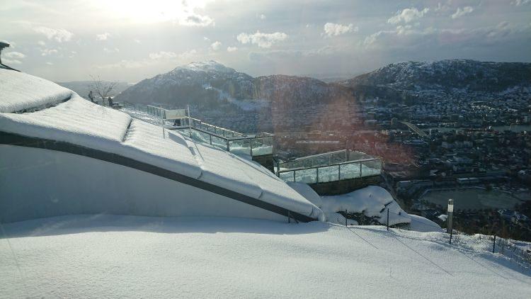 Aussichtsplattform auf dem Fløyen