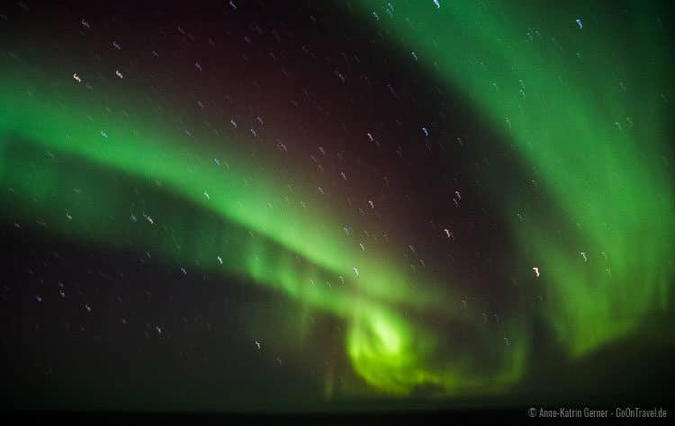 Polarlichter von Deck der Hurtigruten gesehen