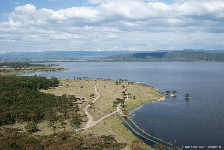 Lake Nakuru vom Baboon Cliff View point