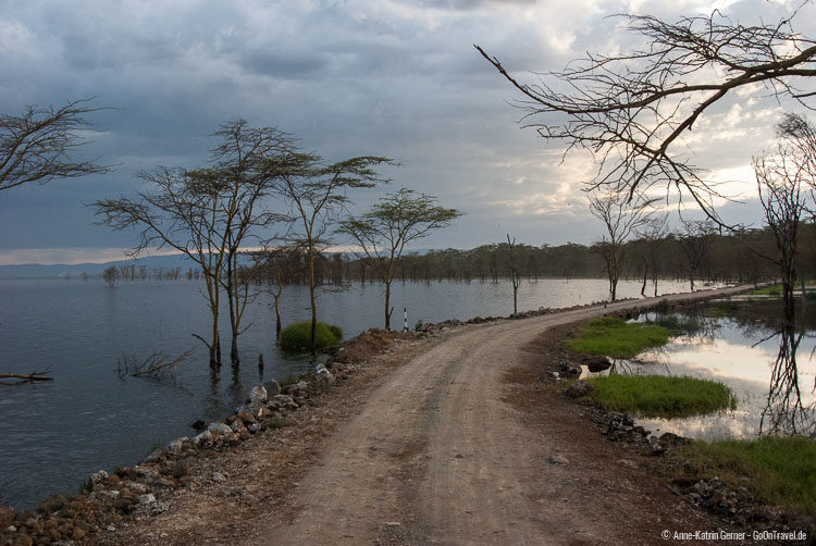 Weg am Lake Nakuru