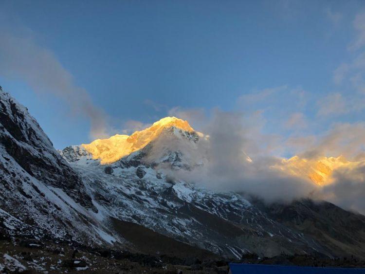 Luisa Nowak: Blick vom Annapurna Base Camp
